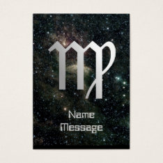 Virgo Virgin Zodiac Universe Business Card at Zazzle