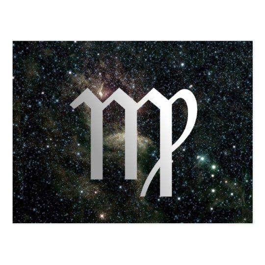 Virgo Virgin Zodiac Universe Postcard