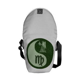 Virgo Yin Yang Courier Bags