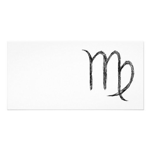 Virgo. Zodiac Astrological Sign. Personalized Photo Card
