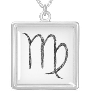 Virgo. Zodiac Astrological Sign. Silver Plated Necklace