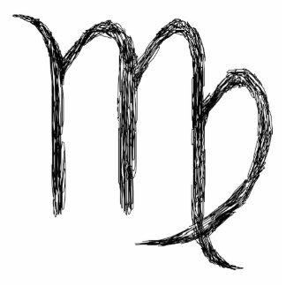 Virgo. Zodiac Astrology Sign. Black. Cutout