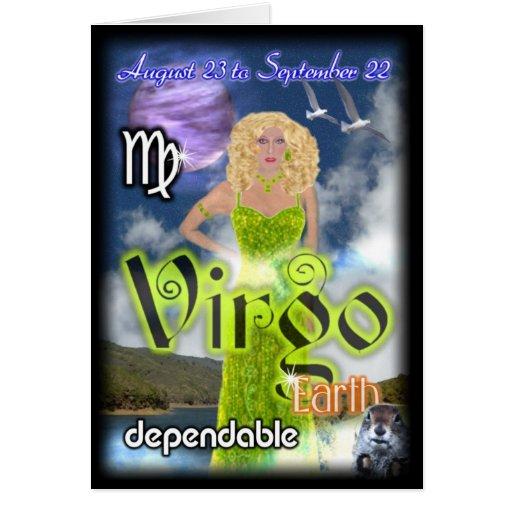 Virgo Zodiac Birthday Card