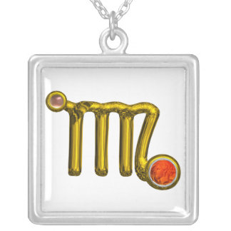 VIRGO ZODIAC BIRTHDAY JEWEL GREY AGATE Gold White Silver Plated Necklace