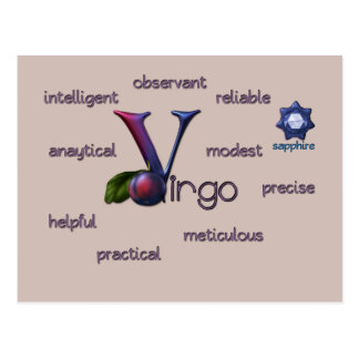 Virgo zodiac characteristics postcard