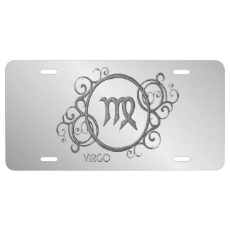 Virgo Zodiac Design License Plate