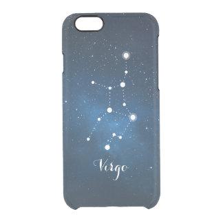 Virgo Zodiac Sign Blue Nebula Clear iPhone 6/6S Case