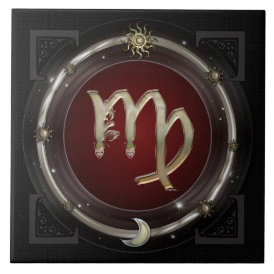 Virgo Zodiac Sign Ceramic Tile