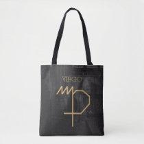 Virgo Zodiac Sign | Custom Background   Text Tote Bag