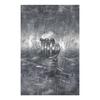 Virgo Zodiac Sign in Grunge Distressed Style Stationery