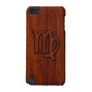 Virgo Zodiac Sign Mahogany Wood Style Decor iPod Touch 5G Cover