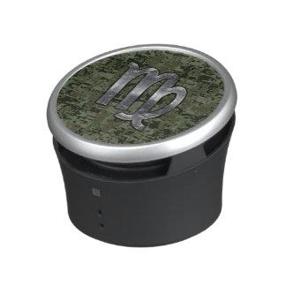 Virgo Zodiac Sign on Green Digital Camouflage Speaker