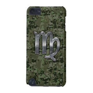 Virgo Zodiac Sign on Olive Digital Camo iPod Touch (5th Generation) Cover