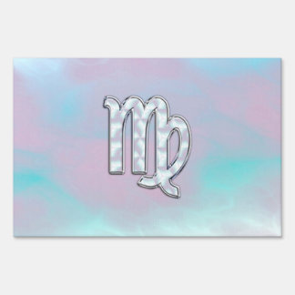Virgo Zodiac Sign on Pastels Mother of Pearl