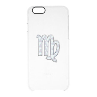 Virgo Zodiac Sign on Pastels Mother of Pearl Clear iPhone 6/6S Case