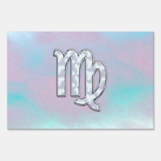 Virgo Zodiac Sign on Pastels Mother of Pearl Style