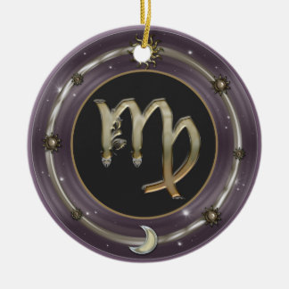 Virgo Zodiac Sign Ornaments