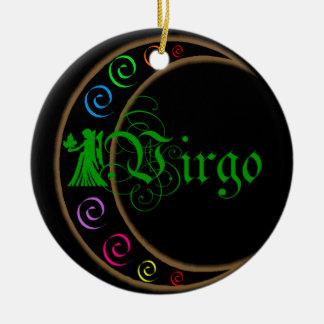 Virgo Zodiac Sign Christmas Ornament