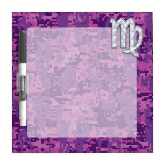 Virgo Zodiac Sign Pink Fuchsia Digital Camouflage Dry-Erase Board