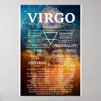 VIRGO Zodiac Sign Poster