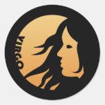 Virgo Zodiac Sign Round Sticker