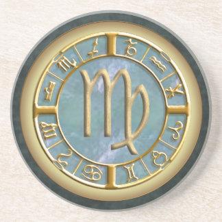 Virgo Zodiac Sign Sandstone Coaster
