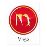 Virgo - Zodiac Signs Postcard