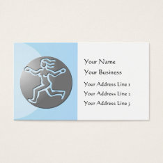 Virgo Zodiac Star Sign Premium Silver Blue Business Card at Zazzle