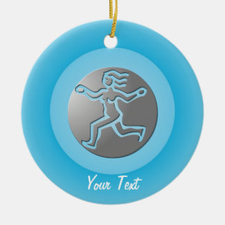 Virgo Zodiac Star Sign Premium Silver Double-Sided Ceramic Round Christmas Ornament