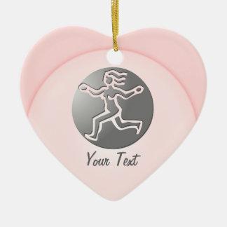 Virgo Zodiac Star Sign Premium Silver Double-Sided Heart Ceramic Christmas Ornament