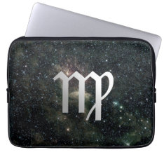 Virgo Zodiac Star Sign Universe Laptop Sleeve at Zazzle