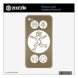 VIRGO -  ZODIAC Symbol Decals For The iPhone 4
