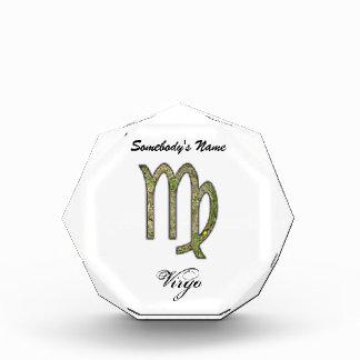Virgo Zodiac Symbol Element Acrylic Award