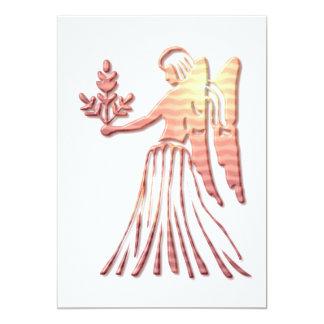 "Virgo Zodiac Symbol Invitation 5"" X 7"" Invitation Card"