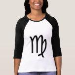 Virgo Zodiac Symbol Ladies Raglan T-Shirt