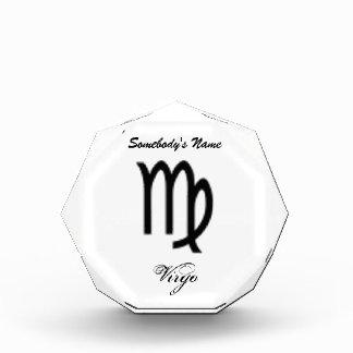 Virgo Zodiac Symbol Standard Award