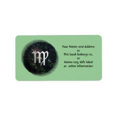 Virgo Zodiac Universe Name Gift Tag Bookplate at Zazzle