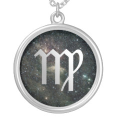 Virgo Zodiac Universe Sterling Silver Necklace at Zazzle