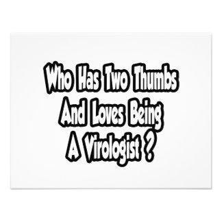 Virologist Joke...Two Thumbs Invitation