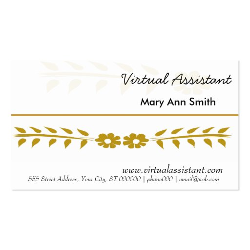 Virtual Assistant Business Cards
