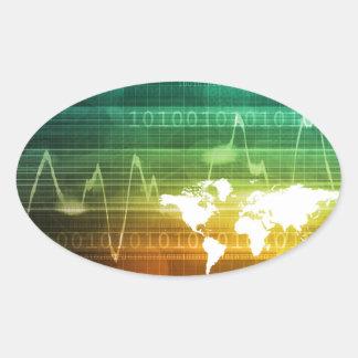 Virtual Business Platform Oval Sticker