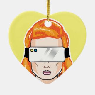 Virtual Device Vector Ceramic Ornament