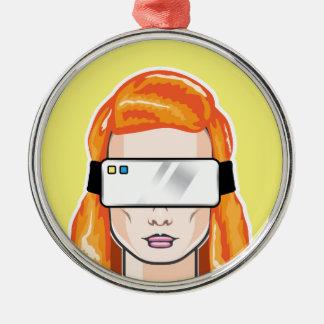 Virtual Device Vector Metal Ornament