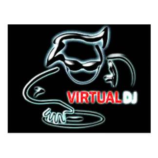 virtual dj big postcard