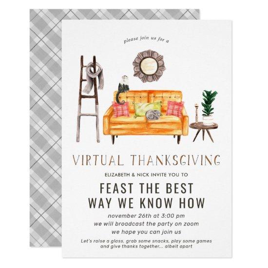 Virtual Friendsgiving Thanksgiving Dinner Party Invitation