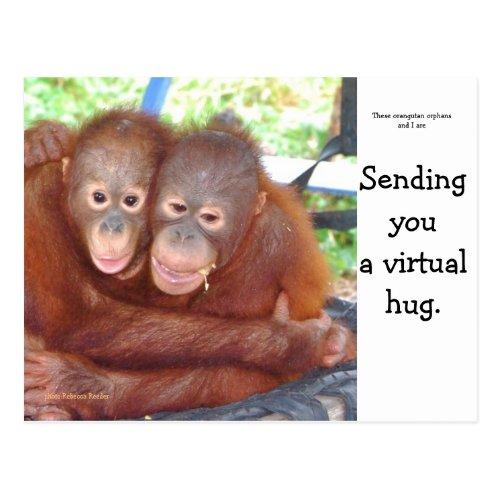 Virtual Hug Postcard