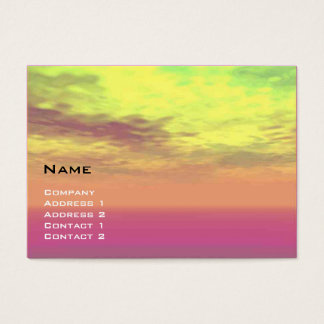 VIRTUAL LANDS / Clouds in yellow, pink, purple Business Card