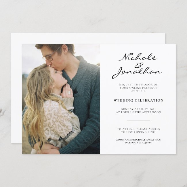 Virtual Online Photo Wedding Invitation