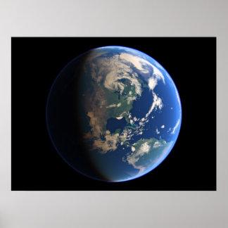Virtual Planets Earth Planet View 03 Americas Poster