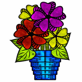 Virtual Potted Flowers Cut Outs